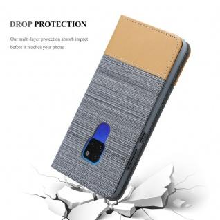 Cadorabo Hülle für Huawei MATE 20 in HELL GRAU BRAUN - Handyhülle mit Magnetverschluss, Standfunktion und Kartenfach - Case Cover Schutzhülle Etui Tasche Book Klapp Style - Vorschau 5