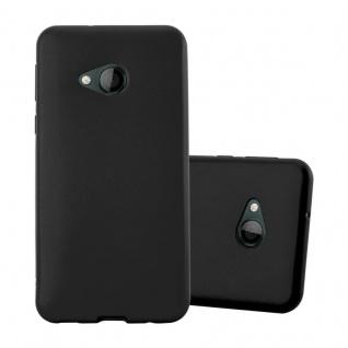 Cadorabo Hülle für HTC U PLAY in METALLIC SCHWARZ - Handyhülle aus flexiblem TPU Silikon - Silikonhülle Schutzhülle Ultra Slim Soft Back Cover Case Bumper