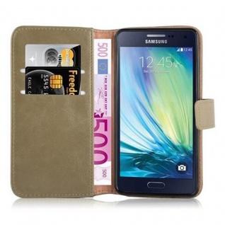 Cadorabo Hülle für Samsung Galaxy A5 2015 in CAPPUCINO BRAUN - Handyhülle mit Magnetverschluss, Standfunktion und Kartenfach - Case Cover Schutzhülle Etui Tasche Book Klapp Style - Vorschau 5