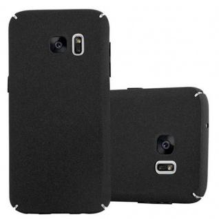 Cadorabo Hülle für Samsung Galaxy S7 in FROSTY SCHWARZ - Hardcase Handyhülle aus Plastik gegen Kratzer und Stöße - Schutzhülle Bumper Ultra Slim Back Case Hard Cover