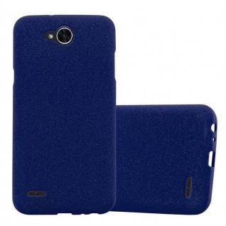 Cadorabo Hülle für LG X POWER 2 in FROST DUNKEL BLAU - Handyhülle aus flexiblem TPU Silikon - Silikonhülle Schutzhülle Ultra Slim Soft Back Cover Case Bumper