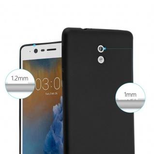 Cadorabo Hülle für Nokia 3 2017 in METALLIC SCHWARZ - Handyhülle aus flexiblem TPU Silikon - Silikonhülle Schutzhülle Ultra Slim Soft Back Cover Case Bumper - Vorschau 5