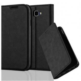 Cadorabo Hülle für LG K3 2016 in NACHT SCHWARZ - Handyhülle mit Magnetverschluss, Standfunktion und Kartenfach - Case Cover Schutzhülle Etui Tasche Book Klapp Style