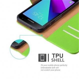 Cadorabo Hülle für Samsung Galaxy Xcover 4 in GRAS GRÜN ? Handyhülle mit Magnetverschluss, Standfunktion und Kartenfach ? Case Cover Schutzhülle Etui Tasche Book Klapp Style - Vorschau 3