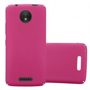 Cadorabo Hülle für Motorola MOTO C in FROSTY PINK - Hardcase Handyhülle aus Plastik gegen Kratzer und Stöße - Schutzhülle Bumper Ultra Slim Back Case Hard Cover