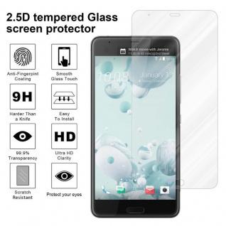 Cadorabo Panzer Folie für HTC U ULTRA - Schutzfolie in KRISTALL KLAR - Gehärtetes (Tempered) Display-Schutzglas in 9H Härte mit 3D Touch Kompatibilität - Vorschau 4