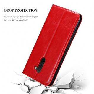 Cadorabo Hülle für Xiaomi Pocophone F1 in APFEL ROT Handyhülle mit Magnetverschluss, Standfunktion und Kartenfach Case Cover Schutzhülle Etui Tasche Book Klapp Style - Vorschau 5