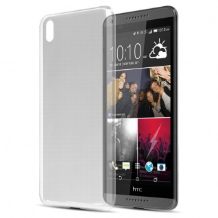Cadorabo Hülle für HTC Desire 816 in VOLL TRANSPARENT - Handyhülle aus flexiblem TPU Silikon - Silikonhülle Schutzhülle Ultra Slim Soft Back Cover Case Bumper