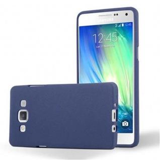 Cadorabo Hülle für Samsung Galaxy A5 2015 in FROST DUNKEL BLAU - Handyhülle aus flexiblem TPU Silikon - Silikonhülle Schutzhülle Ultra Slim Soft Back Cover Case Bumper