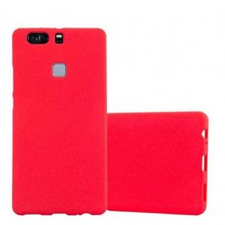 Cadorabo Hülle für Huawei P9 PLUS in FROST ROT - Handyhülle aus flexiblem TPU Silikon - Silikonhülle Schutzhülle Ultra Slim Soft Back Cover Case Bumper