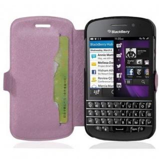 Cadorabo Hülle für Blackberry Q10 - Hülle in ICY ROSE - Handyhülle mit Standfunktion und Kartenfach im Ultra Slim Design - Case Cover Schutzhülle Etui Tasche Book