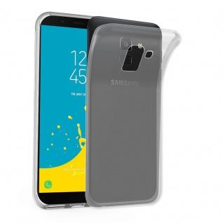 Cadorabo Hülle für Samsung Galaxy J6 2018 in VOLL TRANSPARENT - Handyhülle aus flexiblem TPU Silikon - Silikonhülle Schutzhülle Ultra Slim Soft Back Cover Case Bumper