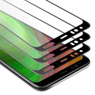 Cadorabo 3x Vollbild Panzer Folie für Google Pixel 4 - Schutzfolie in TRANSPARENT mit SCHWARZ - 3er Pack Gehärtetes (Tempered) Display-Schutzglas in 9H Härte mit 3D Touch