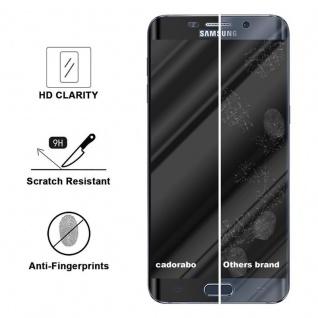 Cadorabo Vollbild Panzer Folie für Samsung Galaxy S6 EDGE - Schutzfolie in TRANSPARENT mit SCHWARZ - Gehärtetes (Tempered) Display-Schutzglas in 9H Härte mit 3D Touch Kompatibilität - Vorschau 3