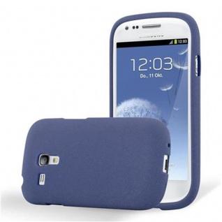 Cadorabo Hülle für Samsung Galaxy S3 MINI in FROST DUNKEL BLAU - Handyhülle aus flexiblem TPU Silikon - Silikonhülle Schutzhülle Ultra Slim Soft Back Cover Case Bumper