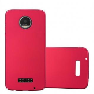 Cadorabo Hülle für Motorola MOTO Z PLAY in METALL ROT ? Hardcase Handyhülle aus Plastik gegen Kratzer und Stöße ? Schutzhülle Bumper Ultra Slim Back Case Hard Cover
