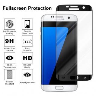 Cadorabo Vollbild Panzer Folie für Samsung Galaxy S7 EDGE - Schutzfolie in TRANSPARENT mit SCHWARZ - Gehärtetes (Tempered) Display-Schutzglas in 9H Härte mit 3D Touch Kompatibilität - Vorschau 4
