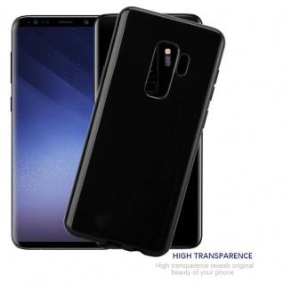 Cadorabo Hülle für Samsung Galaxy S9 PLUS in SCHWARZ - Handyhülle aus flexiblem TPU Silikon - Silikonhülle Schutzhülle Ultra Slim Soft Back Cover Case Bumper - Vorschau 5
