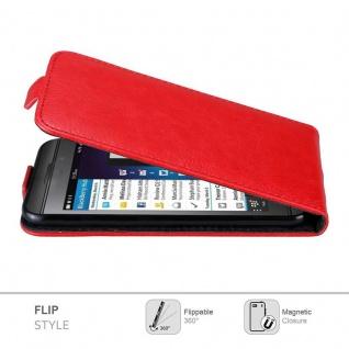 Cadorabo Hülle für Blackberry Z10 in APFEL ROT Handyhülle im Flip Design mit Magnetverschluss Case Cover Schutzhülle Etui Tasche Book Klapp Style - Vorschau 4
