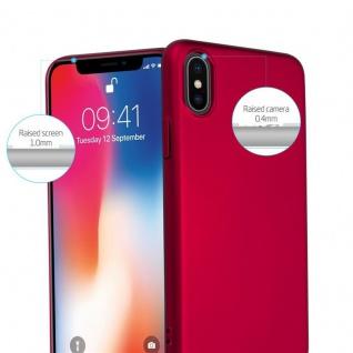Cadorabo Hülle für Apple iPhone X / XS in METALL ROT ? Hardcase Handyhülle aus Plastik gegen Kratzer und Stöße ? Schutzhülle Bumper Ultra Slim Back Case Hard Cover - Vorschau 2