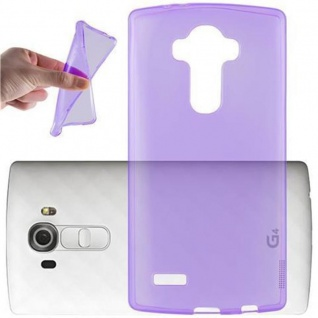 Cadorabo Hülle für LG G4 / G4 PLUS in TRANSPARENT LILA - Handyhülle aus flexiblem TPU Silikon - Silikonhülle Schutzhülle Ultra Slim Soft Back Cover Case Bumper