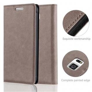 Cadorabo Hülle für Samsung Galaxy ALPHA in KAFFEE BRAUN - Handyhülle mit Magnetverschluss, Standfunktion und Kartenfach - Case Cover Schutzhülle Etui Tasche Book Klapp Style - Vorschau 2