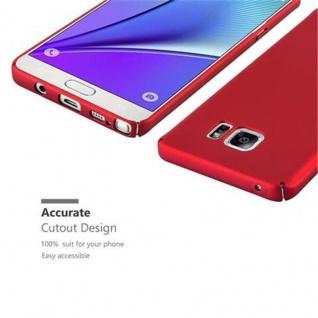 Cadorabo Hülle für Samsung Galaxy NOTE 5 in METALL ROT ? Hardcase Handyhülle aus Plastik gegen Kratzer und Stöße ? Schutzhülle Bumper Ultra Slim Back Case Hard Cover - Vorschau 3