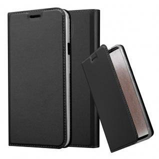 Cadorabo Hülle für Samsung Galaxy S4 Active in CLASSY SCHWARZ - Handyhülle mit Magnetverschluss, Standfunktion und Kartenfach - Case Cover Schutzhülle Etui Tasche Book Klapp Style