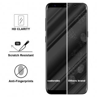 Cadorabo Vollbild Panzer Folie für Samsung Galaxy S8 - Schutzfolie in TRANSPARENT mit SCHWARZ - Gehärtetes (Tempered) Display-Schutzglas in 9H Härte mit 3D Touch Kompatibilität - Vorschau 3