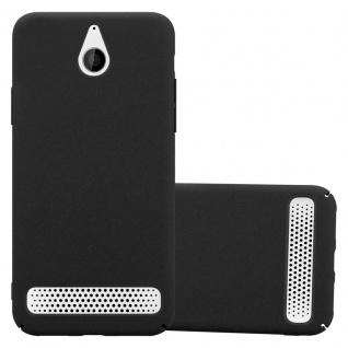 Cadorabo Hülle für Sony Xperia E1 in FROSTY SCHWARZ - Hardcase Handyhülle aus Plastik gegen Kratzer und Stöße - Schutzhülle Bumper Ultra Slim Back Case Hard Cover