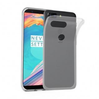 Cadorabo Hülle für OnePlus 5T in VOLL TRANSPARENT - Handyhülle aus flexiblem TPU Silikon - Silikonhülle Schutzhülle Ultra Slim Soft Back Cover Case Bumper
