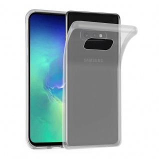 Cadorabo Hülle für Samsung Galaxy S10e in VOLL TRANSPARENT - Handyhülle aus flexiblem TPU Silikon - Silikonhülle Schutzhülle Ultra Slim Soft Back Cover Case Bumper