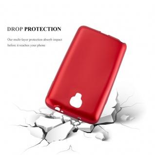 Cadorabo Hülle für Samsung Galaxy NOTE 3 NEO in METALLIC ROT - Handyhülle aus flexiblem TPU Silikon - Silikonhülle Schutzhülle Ultra Slim Soft Back Cover Case Bumper - Vorschau 3