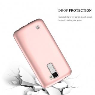 Cadorabo Hülle für LG K10 2016 in METALLIC ROSÉ GOLD - Handyhülle aus flexiblem TPU Silikon - Silikonhülle Schutzhülle Ultra Slim Soft Back Cover Case Bumper - Vorschau 3