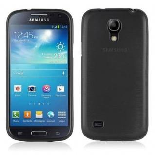 Cadorabo Hülle für Samsung Galaxy S4 MINI in SCHWARZ - Handyhülle aus flexiblem TPU Silikon - Silikonhülle Schutzhülle Ultra Slim Soft Back Cover Case Bumper