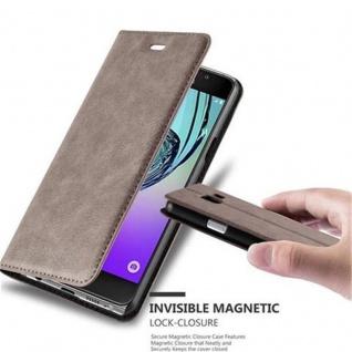Cadorabo Hülle für Samsung Galaxy A3 2016 in KAFFEE BRAUN - Handyhülle mit Magnetverschluss, Standfunktion und Kartenfach - Case Cover Schutzhülle Etui Tasche Book Klapp Style