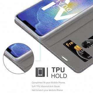 Cadorabo Hülle für Huawei MATE 20 PRO in GRAU SCHWARZ - Handyhülle mit Magnetverschluss, Standfunktion und Kartenfach - Case Cover Schutzhülle Etui Tasche Book Klapp Style - Vorschau 2