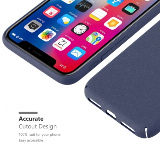 Cadorabo Hülle für Apple iPhone X / XS in FROSTY BLAU - Hardcase Handyhülle aus Plastik gegen Kratzer und Stöße - Schutzhülle Bumper Ultra Slim Back Case Hard Cover - Vorschau 3