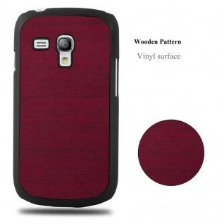 Cadorabo Hülle für Samsung Galaxy S3 MINI in WOODY ROT - Hardcase Handyhülle aus Plastik gegen Kratzer und Stöße - Schutzhülle Bumper Ultra Slim Back Case Hard Cover - Vorschau 4