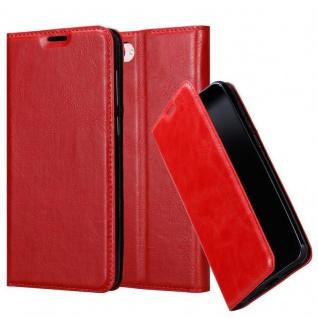 Cadorabo Hülle für Asus ZenFone 4 MAX (5, 2 Zoll) in APFEL ROT - Handyhülle mit Magnetverschluss, Standfunktion und Kartenfach - Case Cover Schutzhülle Etui Tasche Book Klapp Style