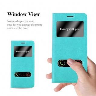 Cadorabo Hülle für Samsung Galaxy S7 EDGE in MINT TÜRKIS ? Handyhülle mit Magnetverschluss, Standfunktion und 2 Sichtfenstern ? Case Cover Schutzhülle Etui Tasche Book Klapp Style - Vorschau 2