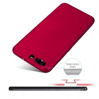 Cadorabo Hülle für Huawei P10 in METALL ROT - Hardcase Handyhülle aus Plastik gegen Kratzer und Stöße - Schutzhülle Bumper Ultra Slim Back Case Hard Cover - Vorschau 4