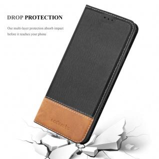 Cadorabo Hülle für Samsung Galaxy S9 PLUS in SCHWARZ BRAUN ? Handyhülle mit Magnetverschluss, Standfunktion und Kartenfach ? Case Cover Schutzhülle Etui Tasche Book Klapp Style - Vorschau 5