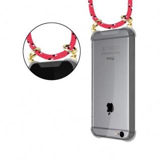Cadorabo Handy Kette für Apple iPhone 6 PLUS / iPhone 6S PLUS in PINK SCHWARZ WEISS GEPUNKTET - Silikon Necklace Umhänge Hülle mit Gold Ringen, Kordel Band Schnur und abnehmbarem Etui ? Schutzhülle - Vorschau 4