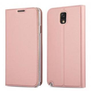 Cadorabo Hülle für Samsung Galaxy NOTE 3 in CLASSY ROSÉ GOLD - Handyhülle mit Magnetverschluss, Standfunktion und Kartenfach - Case Cover Schutzhülle Etui Tasche Book Klapp Style
