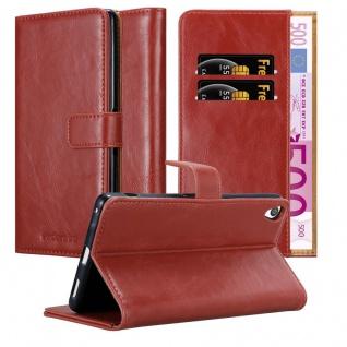 Cadorabo Hülle für Sony Xperia XA Ultra in WEIN ROT ? Handyhülle mit Magnetverschluss, Standfunktion und Kartenfach ? Case Cover Schutzhülle Etui Tasche Book Klapp Style