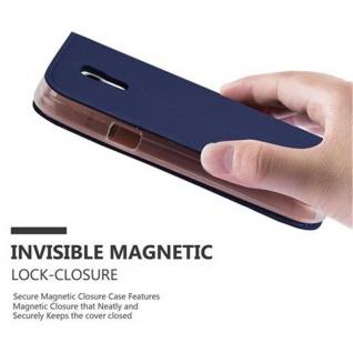 Cadorabo Hülle für Samsung Galaxy S4 MINI in CLASSY DUNKEL BLAU - Handyhülle mit Magnetverschluss, Standfunktion und Kartenfach - Case Cover Schutzhülle Etui Tasche Book Klapp Style - Vorschau 5