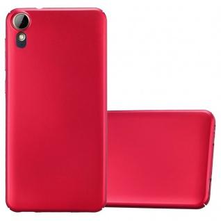 Cadorabo Hülle für HTC Desire 10 Lifestyle / Desire 825 in METALL ROT Hardcase Handyhülle aus Plastik gegen Kratzer und Stöße Schutzhülle Bumper Ultra Slim Back Case Hard Cover