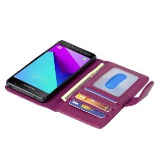 Cadorabo Hülle für Samsung Galaxy XCover 4 in BORDEAUX LILA ? Handyhülle mit Magnetverschluss und 3 Kartenfächern ? Case Cover Schutzhülle Etui Tasche Book Klapp Style - Vorschau 2