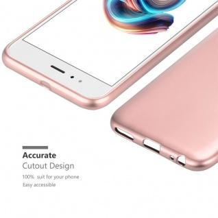 Cadorabo Hülle für Xiaomi Mi A1 / 5X in METALLIC ROSÉ GOLD - Handyhülle aus flexiblem TPU Silikon - Silikonhülle Schutzhülle Ultra Slim Soft Back Cover Case Bumper - Vorschau 5